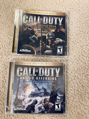 Call of Duty Deluxe edition for PC & Expansion Pack for Sale in Okemos, MI