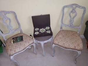 Handmade Antique French Lounge Chair w Table for Sale in Fort Lauderdale, FL