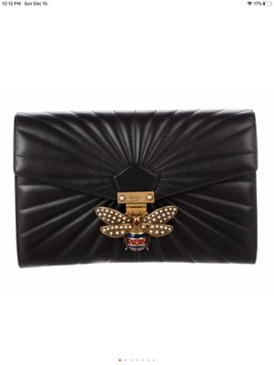 Gucci black leather queen Margaret bee clutch for Sale in Stockton, CA