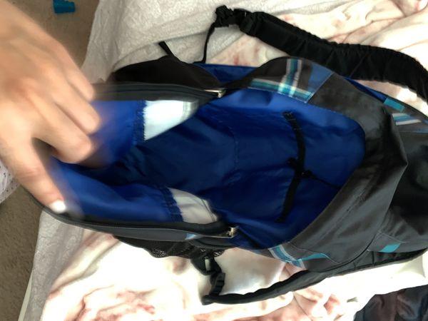 Black and blue jansport backpack