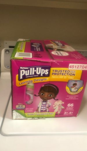Huggies pull-ups 3t-4t 66 count for Sale in Richmond, TX