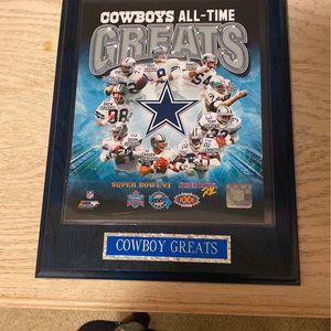 Dallas Cowboys Wall Plaque for Sale in Fresno, CA