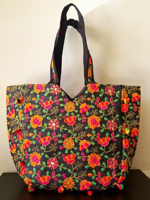 Floral Embroidered Tote Bag for Sale in Sterling, VA