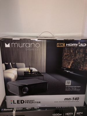 Murano smart projector, projector screen, surround sound system for Sale in Wichita, KS
