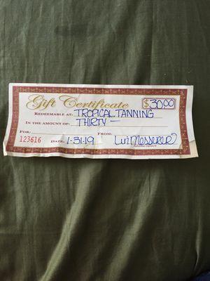 Tropical Tannin Gift Certificate for Sale in Aberdeen, WA