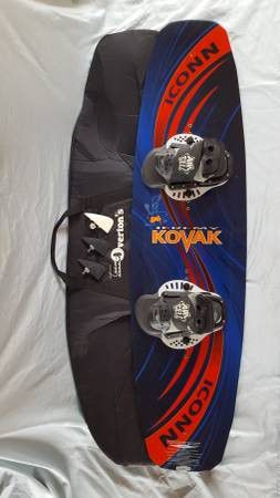 "Like New ""Jeremy Kovak"" Wakeboard, Fins and Fitted Bag for Sale, used for sale  Chico, CA"