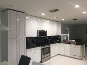 White high gloss Kitchen cabinets for Sale in Hollywood, FL