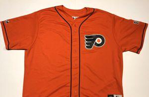 Philadelphia flyers hockey baseball jersey rare !! Size 2x majestic jersey for Sale in Philadelphia, PA
