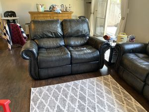 Leather Power Reclining Sofa and Loveseat for Sale in Morgan Hill, CA