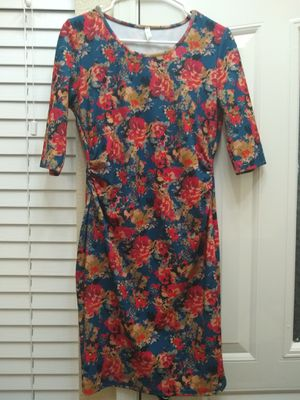 PinkBlush Blue Floral Ruched Fitted Maternity Dress Medium for Sale in Mesa, AZ