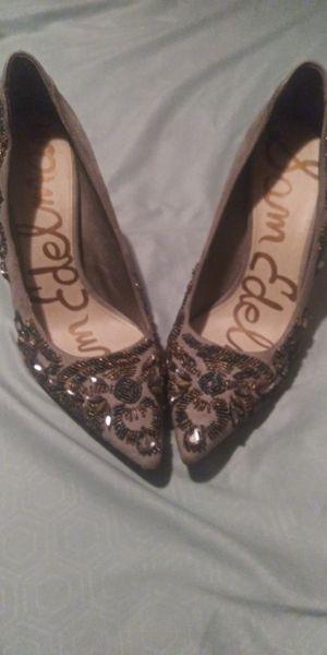 Sam Edelman Gray Beaded Heels Size 10 for Sale in Olympia, WA