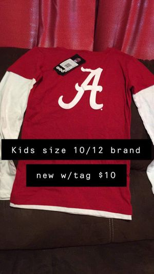 Boys Alabama shirt size 10/12 now $5 for Sale in Leeds, AL