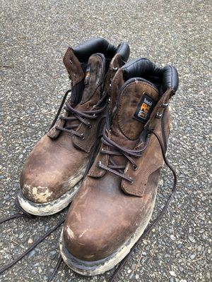 Lightly used Men's Steel toe work boots size 12 for Sale in Renton, WA