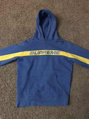 Supreme Hoodie Blue/Yellow Full Stripe Size Medium for Sale in Las Vegas, NV