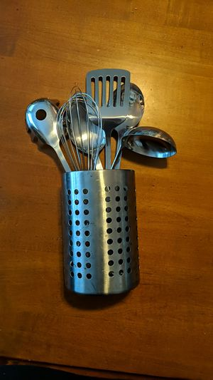 Ikea stainless steel kitchen utensils for Sale in Newton, MA