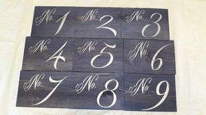 Table number signs for Sale in Daly City, CA