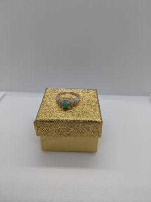 Genuine Colombian Emerald Ring women. for Sale in Southbridge, MA