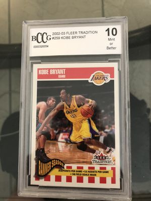 2002 fleer tradition #259 Kobe Bryant Beckett 10 for Sale in Irvine, CA