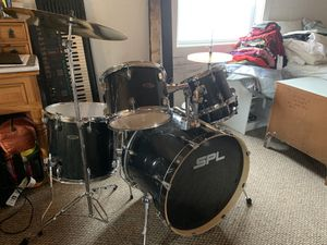 Brand New, Barely Used SPL 5-piece Complete Percussion Drum Set for Sale in Milford, CT
