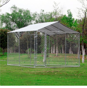 10x10x6ft dog kennel with roof and cot like new for Sale in US