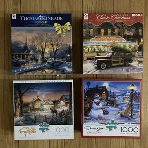 4 Christmas Jigsaw Puzzles for Sale in West Hartford, CT