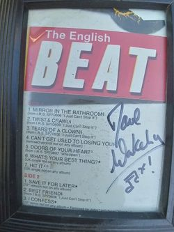 English Beat Dave Wakeling. I Got It In Person. Frame Included for Sale in San Jose,  CA