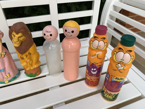 Vintage kids' shampoo bottles (empty)