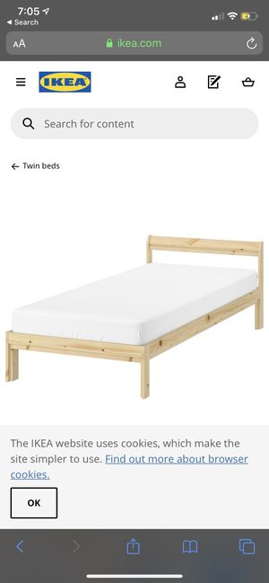 IKEA twin bed frame for Sale in Los Angeles, CA