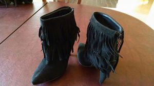 Suede boots with fringe for Sale in Palm Bay, FL