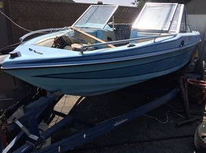 1989 galaxy 17 ft ski boat evinrude outboard 88 special with trailer for Sale in Hayward, CA