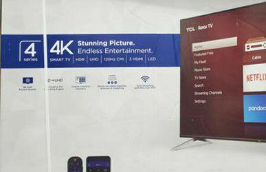 "65"" TCL S5 ROKU 4K SMART UHD HDR LED TV for Sale in La Cañada Flintridge,  CA"