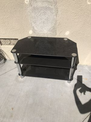 Glass TV stand for $20 for Sale in Cupertino, CA