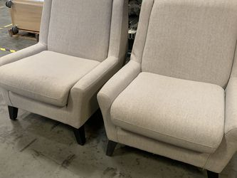 Light Tan Armless Lounge Chairs, Really Nice Shape, Commercial Grade, $150 For Both, Priced To Sell Fast! for Sale in Bellevue,  WA