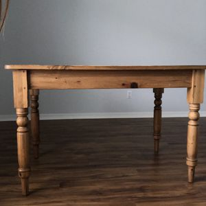 Wood table with pull out drawer on one end. for Sale in Sarasota, FL
