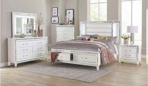 Queen bed frame. Dresser. Mirror and one night stand. Price firm. MX for Sale in Ontario, CA
