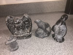 Aardik and Wolf soapstone sculptures for Sale in Melbourne, FL