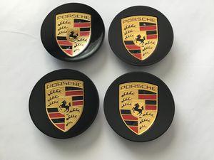 Porsche Center Caps Carrera Cayenne Cayman Panamera 911 996 997 Black wheels Rims for Sale in Scottsdale, AZ