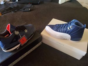 Jordan 4 size 11 winterized dead stock box got messed up durring shipping jordan 12 indigo dead stock size 10.5 hella clean for Sale in Milpitas, CA