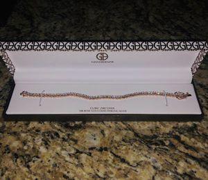 18k Rose Gold sterling Silver bracelet for Sale in Tempe, AZ