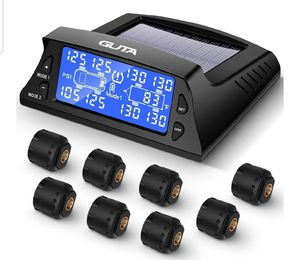 Sealed Box - Tire Pressure Monitoring System for Travel Trailer - 8 External Sensor(0-188 PSI) tpms, 6 Alarm Modes for Sale in Irvine, CA