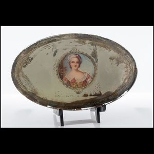 Antique Oval Tabletop Mirror With Cameo for Sale in Austin, TX