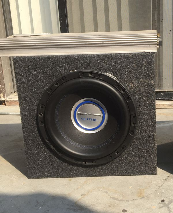 """Alpine Mrv 1505 amplifier /gothic 12"""" subwoofer 1250 rms"""