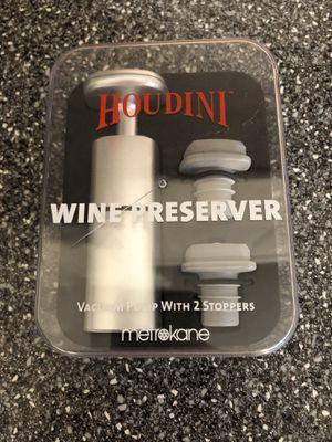 Houdini wine preserver kit for Sale in Boca Raton, FL