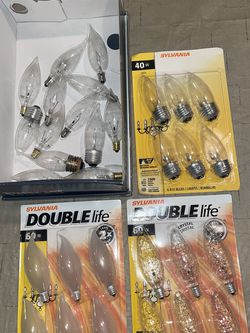 SYLVANIA Lighting Incandescent Bulb, B10-60W & 40w Double Life, Clear Lot of 3 pack n more for Sale in Rochester Hills,  MI