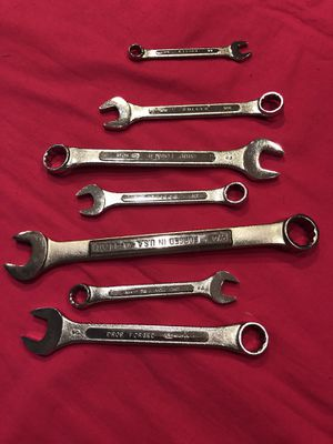 Combination Wrench Set - 7 PIECES for Sale in Arlington, VA