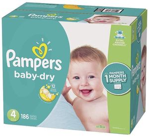 Pampers size 4 Baby Dry diapers for Sale in Downey, CA