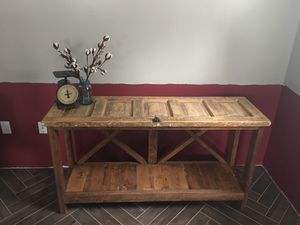 Antique reclaimed door console table for Sale in Johnstown, PA