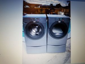 WHIRLPOOL DUET OR KENMORE ELITE WASHER AND ELECTRIC DRYER SUPERCAPACITY WITH PEDESTALS for Sale in Medley, FL