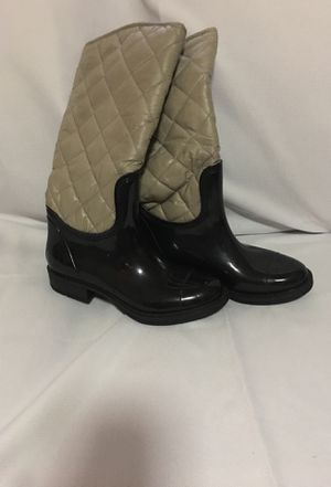 Black and gray rain boots for Sale in Gretna, LA