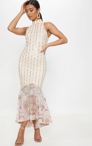 High neck rose gold sequin dress for Sale in Columbia, MD